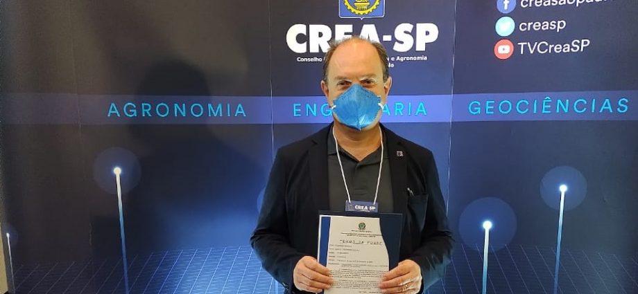 Engenheiro Marcelo Perrone toma posse como conselheiro do CREA-SP