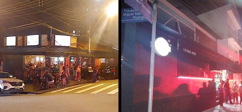 PM e GCM flagram bares descumprindo Fase Vermelha