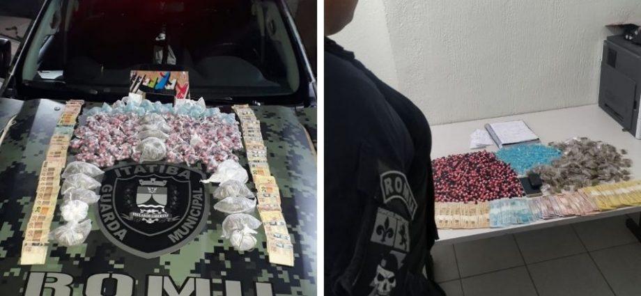 Guarda Municipal apreende mais de 1700 porções de droga e R$ 6 mil