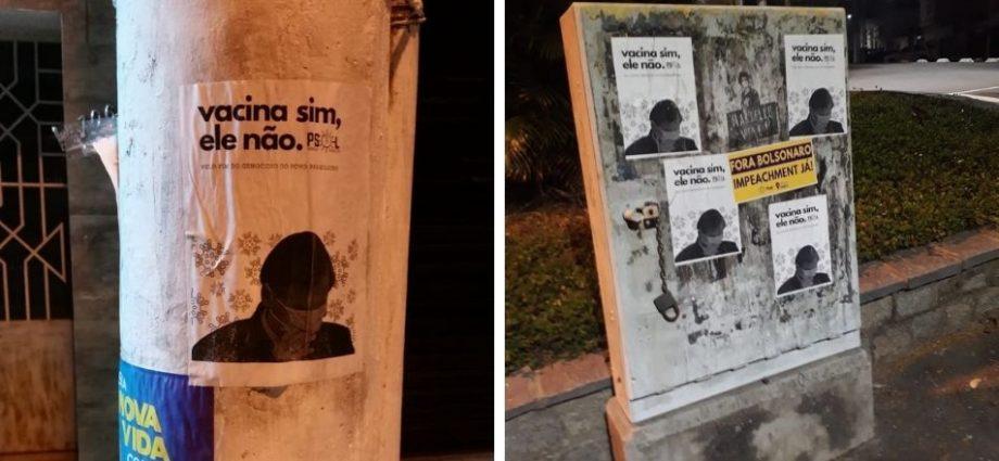 Cartazes espalhados em Bragança