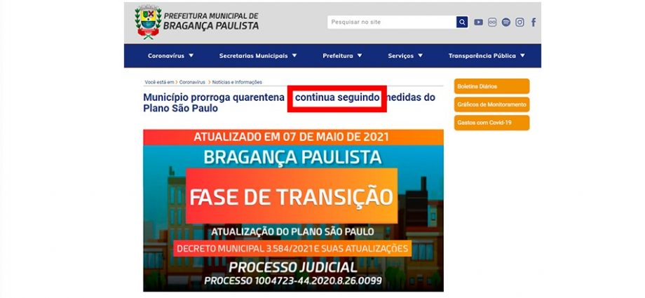 Prefeitura mente ao afirmar que segue o Plano São Paulo