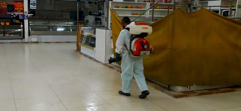 COVID-19: Mercadão passa porhigienização e desinfecção